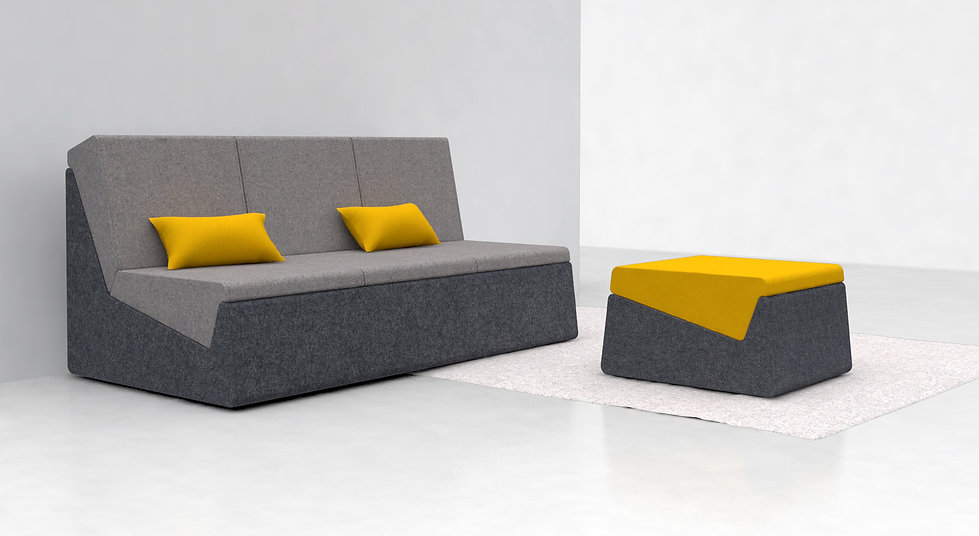 canapé modul thibault pougeoise modulaire modulable fauteuil coussin ottoman design designer made in france fabriqué en france inter changeable couleur laine tissu oeko tex eco responsable
