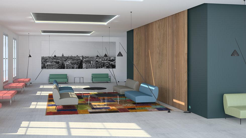 banquette armchair sofa canapé chaffeuse design designer sergio ballesteros artisan artisanat local ecoresponsable oeko tex ecolabal camira crisp gabriel