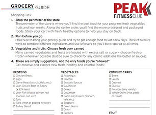 Healthy Living Grocery Guide