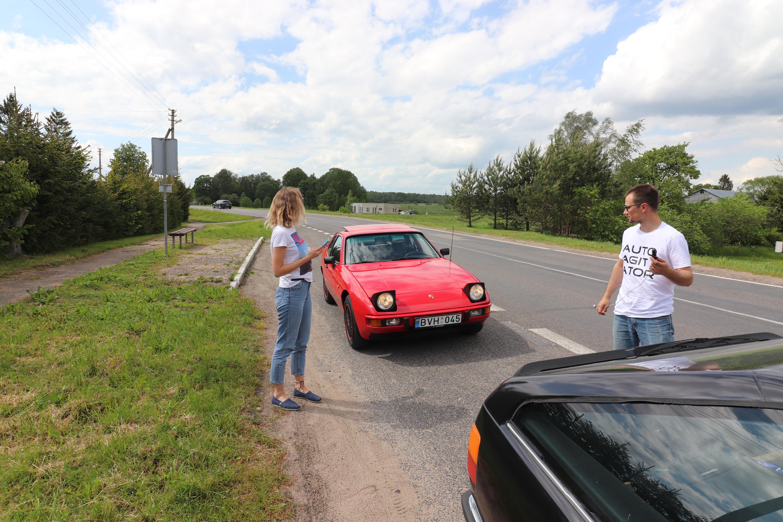 Audi 100 TQ ir Porsche 924 keliauja per Lietuvą