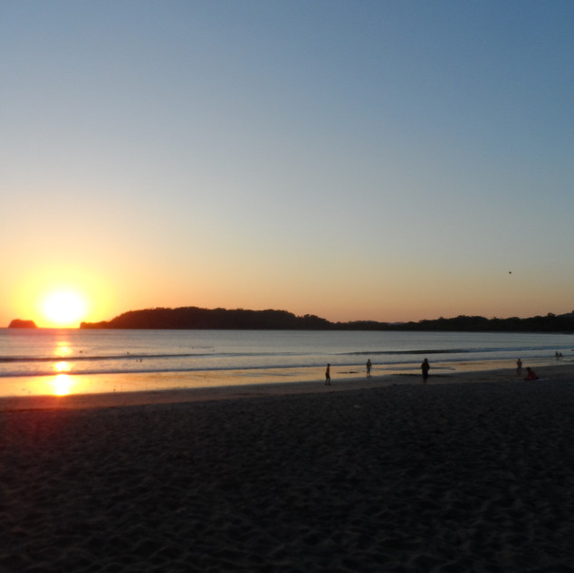 Sunset at beautiful Carillio beach