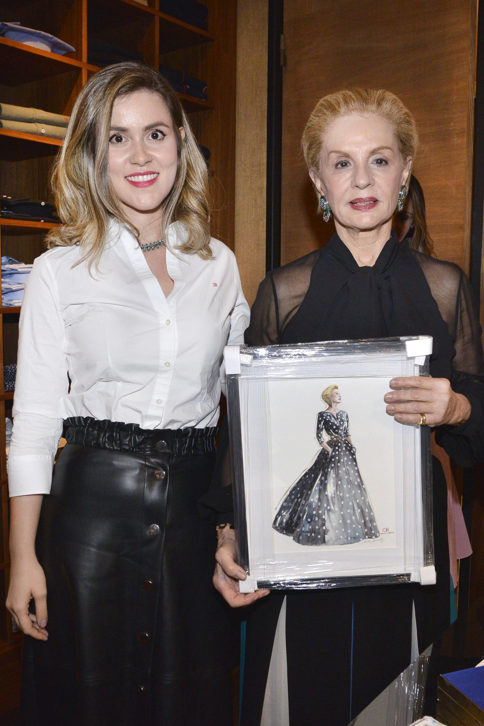 Lulu Aguiar e Carolina Herrera