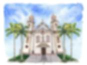 aquarela igreja N.S.do Brasil- LULU AGUI