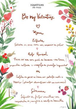 Menu valentines day Iguatemi