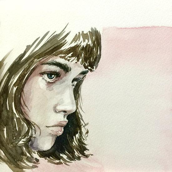 ILUSTRAÇÃO AUTORAL - Mulher Perfil