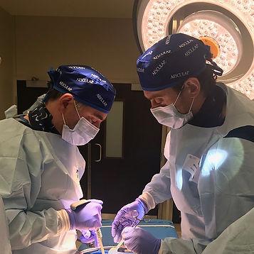 Dr. Ivanishvili (left) & Dr.Nikolakis (right) Photo: Lynne Verhoeven (Galen Medical)