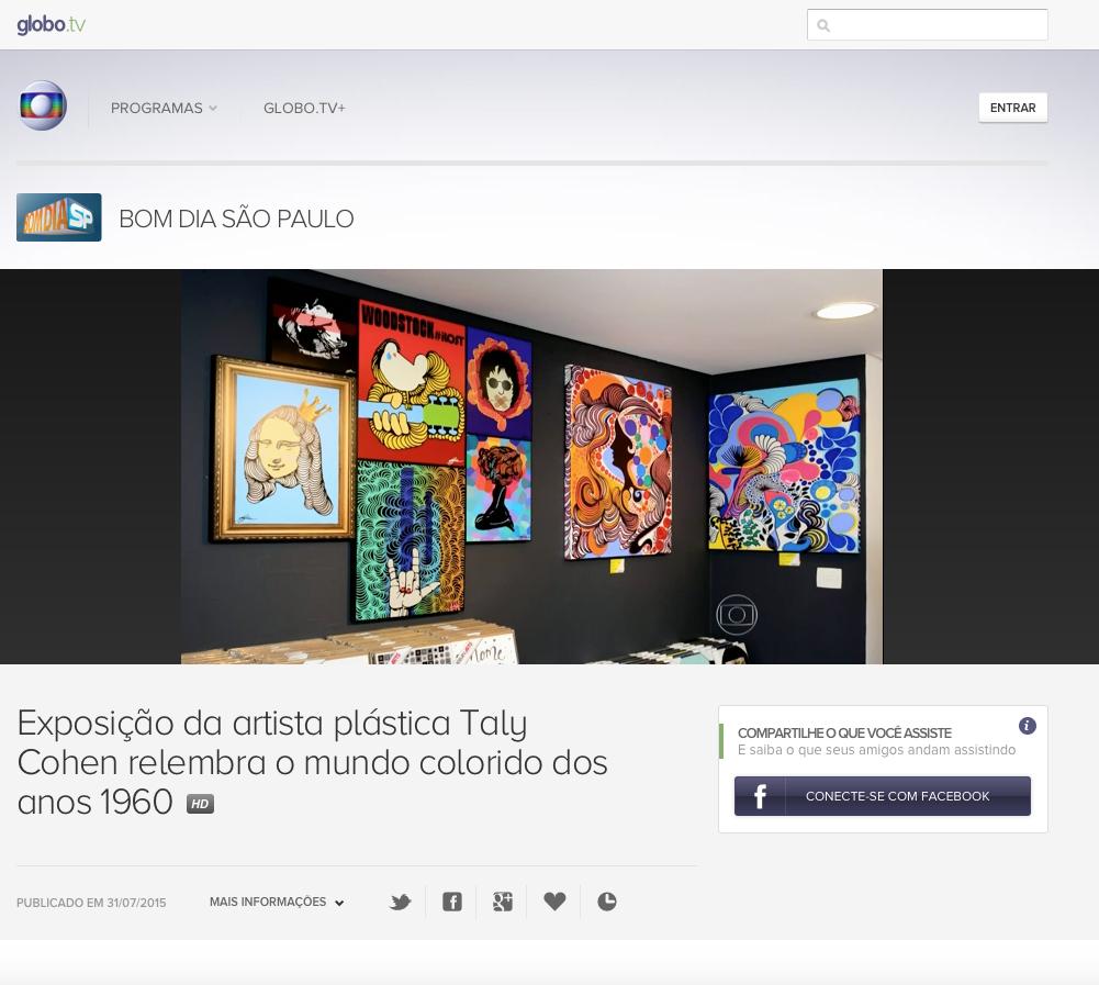 Tv Globo - Bom dia São Paulo Julho/1