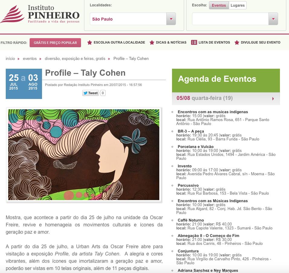 Site Instituto Pinheiro Julho/15
