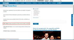 Blog Estadão, Sonia Racy Julho/15