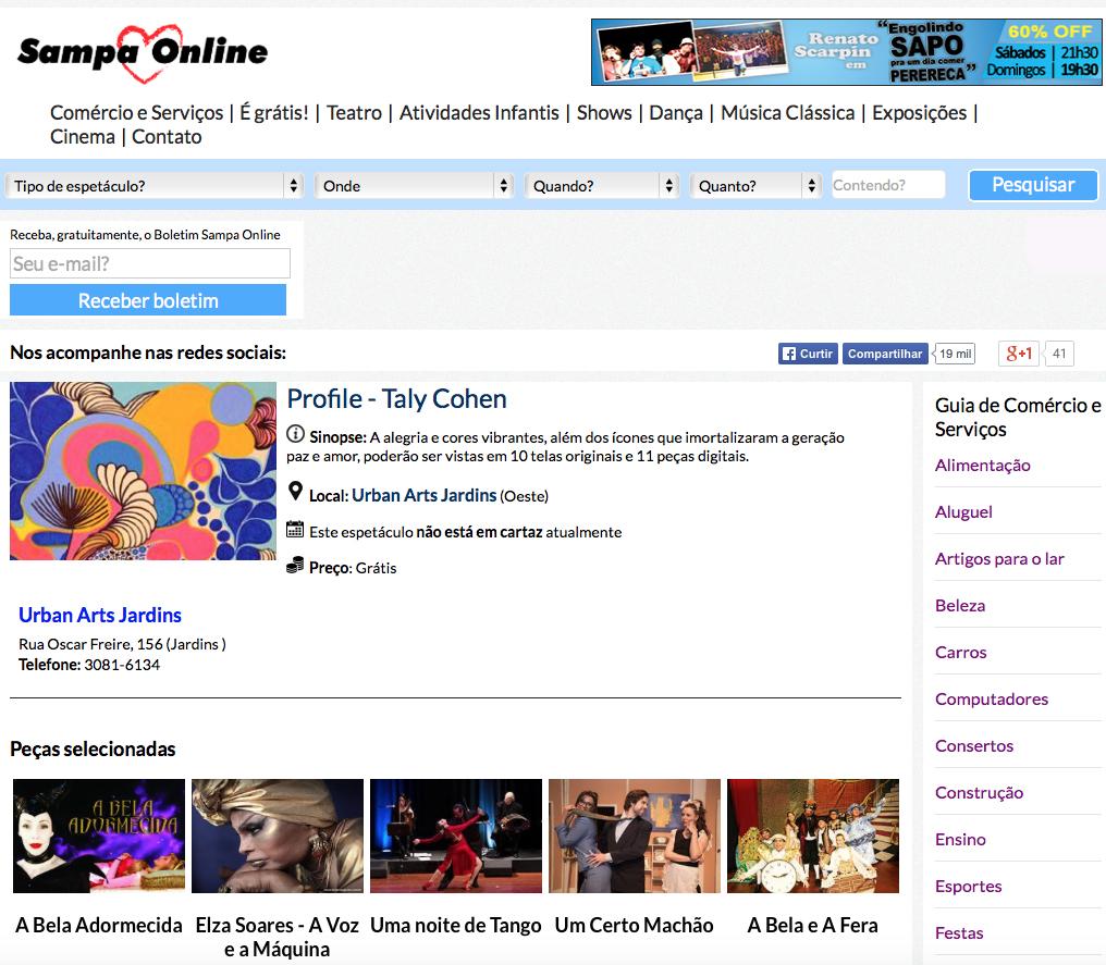 Site Sampa Online Julho/15