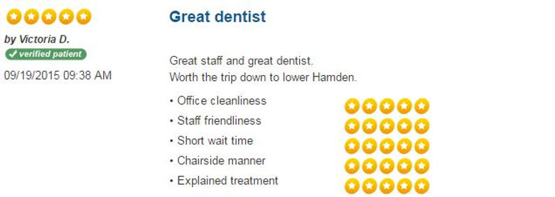 Patient Reviews, dental reviews, friendly dentist, dentist hamden, dentist New Haven, Connect Family Dental, inexpensive dentist, caring dentist