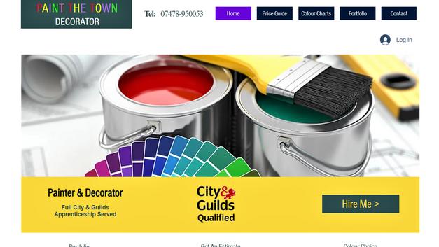 Paint The Town Website