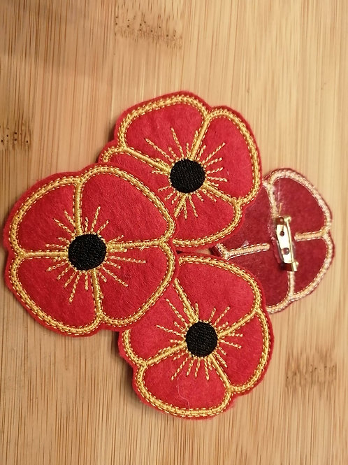 Poppy Brooch (Thanks for Donating)