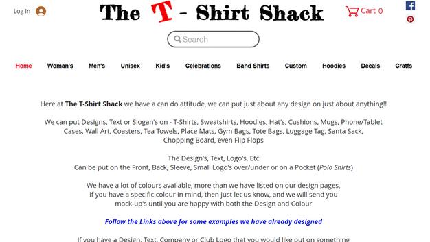 The T-Shirt Shack Website