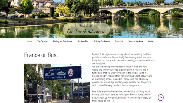 Our French Adventure Website