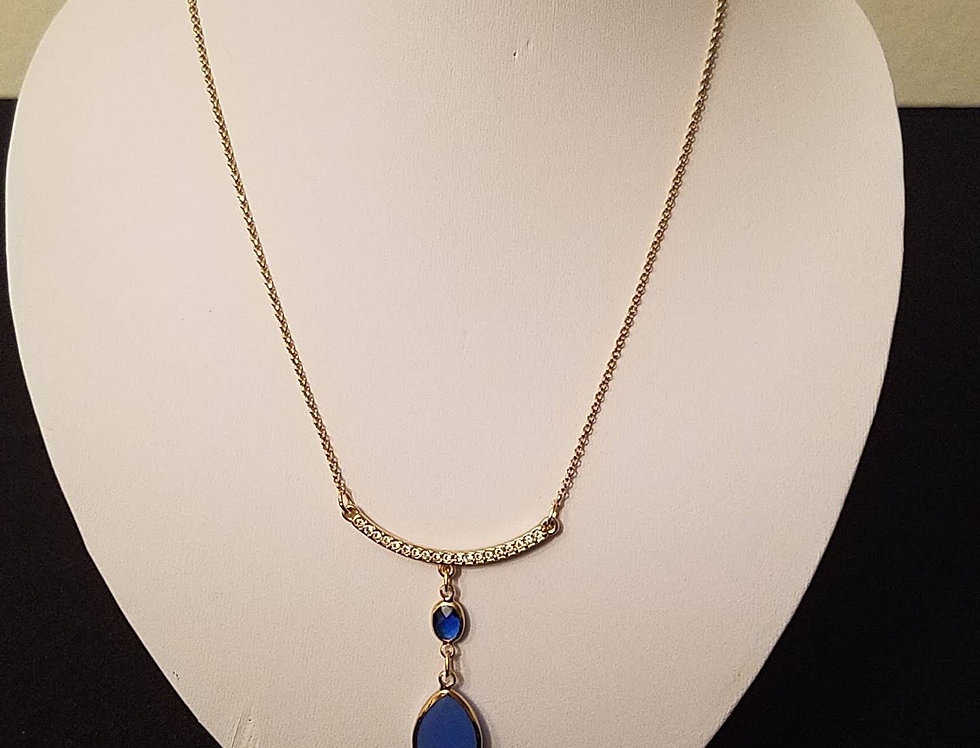 Gold & Sapphire Necklace