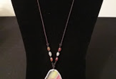 Multi Color Porcelain Necklace