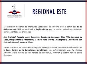 SCJ habilita Regional Este de Mensuras Catastrales