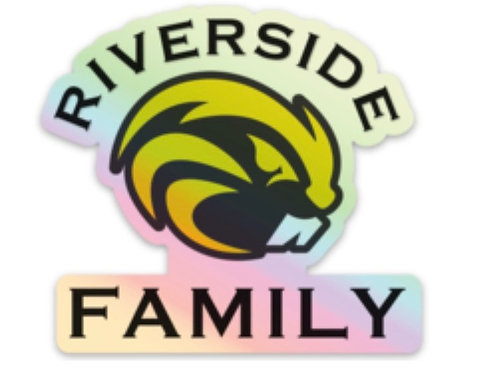 Riverside Family Holographic Sticker