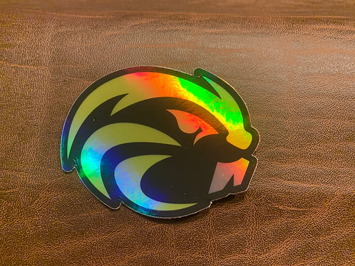 Beaver Holographic Sticker- 3""