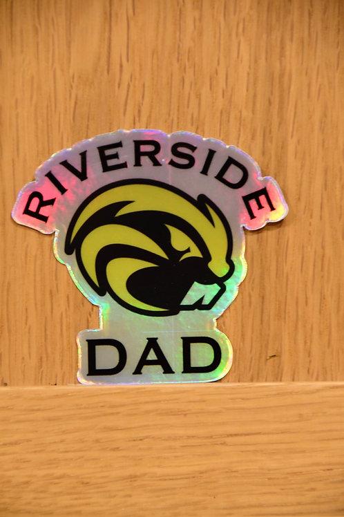 Riverside Dad Holographic Sticker