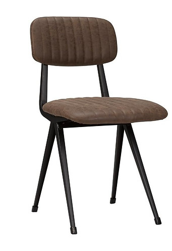 Brown Faux Leather Medina Side Chair