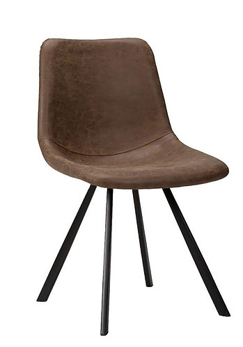 Brown Faux Leather Perry Side Chair