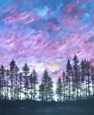 Pines and sunset SOLD