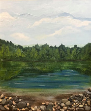 The lake afternoon