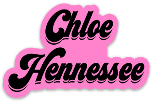 Chloe Hennessee Retro Logo Vinyl Sticker (2)
