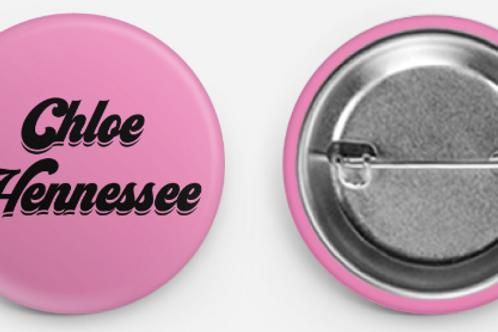 Chloe Hennessee Retro Logo Button