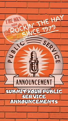 SUBMIT YOUR PUBLIC SERVICE ANNOUNCEMENTS