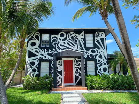 A very, very, very FINE ART house: At home in a modern art installation with abstract curb appeal