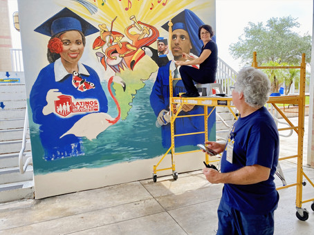Mural, mural on the wall: Artist, students celebrate culture with Boca Raton High campus fresco