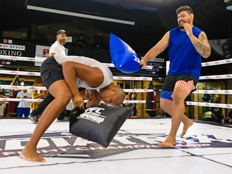 Pillow Fight Club! MMA pugilists pound with pillows, not fists, in fierce but wholesome combat sport
