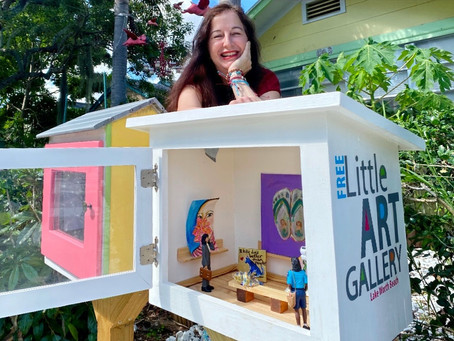 At these Lake Worth Beach galleries, visitors are encouraged to walk away with the art