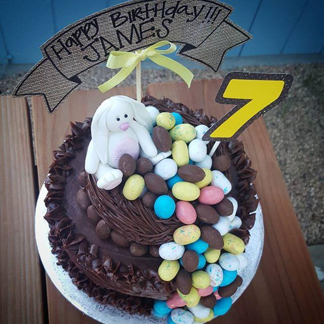 Easter Egg Hunt Birthday Cake
