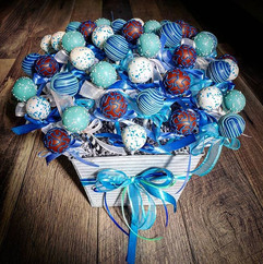 Made this giant cake pop centerpiece for