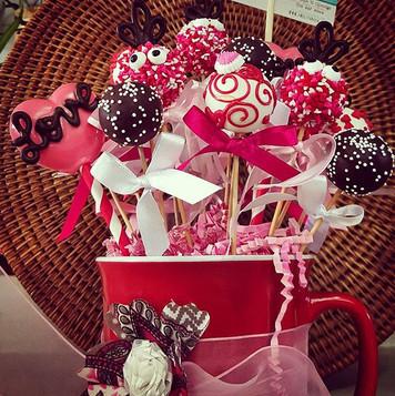 Valentine's Day Cake Pop arrangements