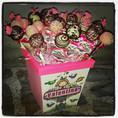 Baby girl cake pop arrangement