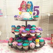 Shimmer & Shine cupcake tower._Chocolate
