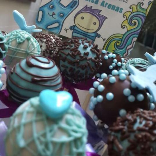 Baby boy cake pops arrangements