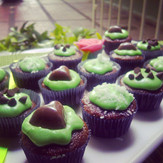 Choco-mint mini cupcakes