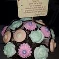 Vintage cupcake flower pot