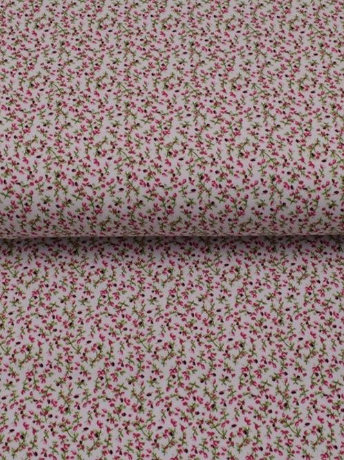 Baumwolljersey Blümchen rosa