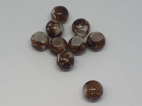 Acryl Perlen Big Hole Braun