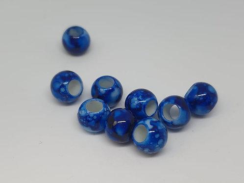 Acryl Perlen Big Hole Blau