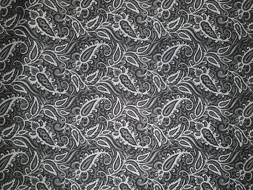 Elastic Baumwollsatin abstrakte Muster - Grau