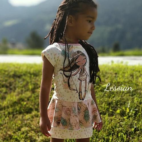Kleid Ariosa mit Ärmeln, Bleistift- & Volantrock Gr. 104-164
