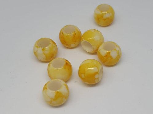 Acryl Perlen Big Hole Gelb
